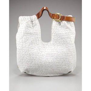 AUTH Kooba Embossed Canvas Tote Handbag